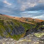 Расщелина Аку-Аку на закате