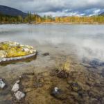 Замшелый валун на Полигональном озере