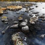 Каменистый берег Полигонального озера