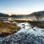 Холодное утро на Полигональных озёрах
