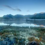 Предрассветный туман на Полигональных озёрах