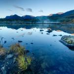Рассвет на Полигональных озёрах