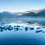 Туман на Нижнем Полигональном озере