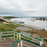 Речной вокзал и будущий музей истории Волжской Булгарии