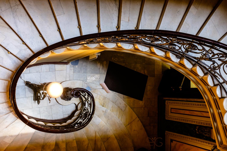 Лестница в доме на Биржевой линии, 14 – Г. Г. Елисеев / ГОИ / ИТМО
