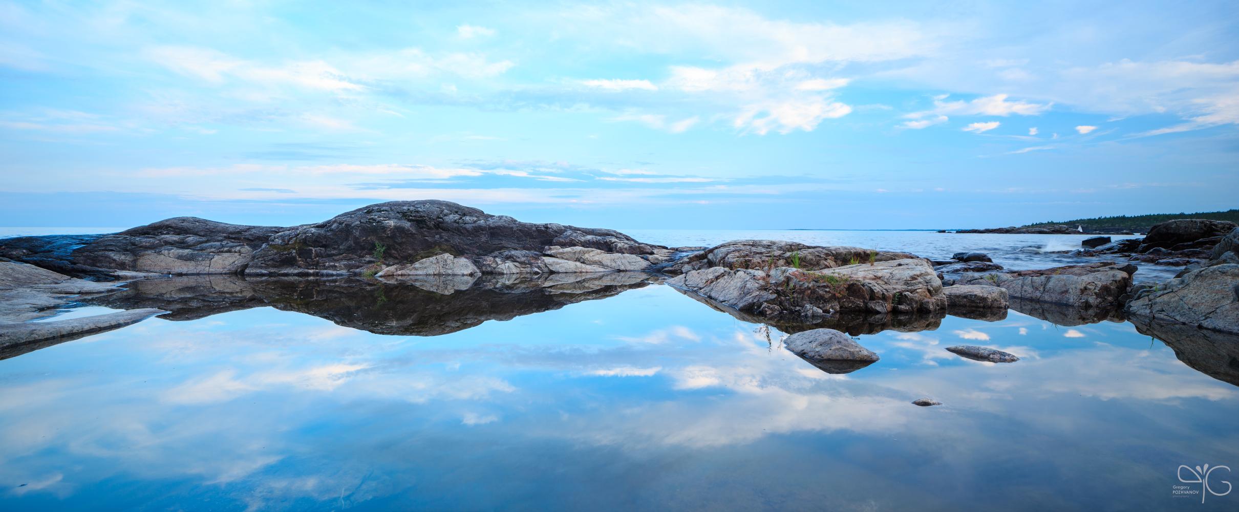 Каменистые берега острова Петросааренлуодот