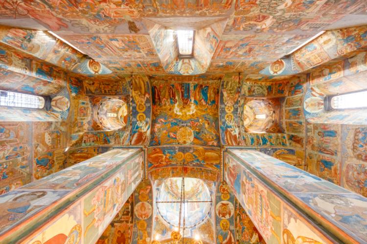 Церковь Ильи Пророка в Ярославле: фрески