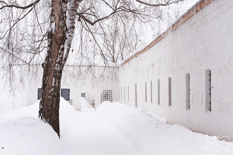 Тюремный дворик в Спасо-Ефимиевом монастыре